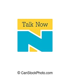 letters tn talk now symbol logo vector