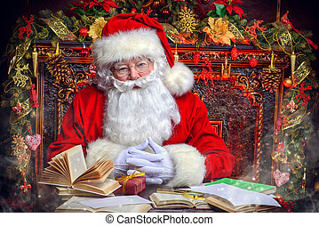 letters to Santa Claus - Good old Santa Claus in his house...