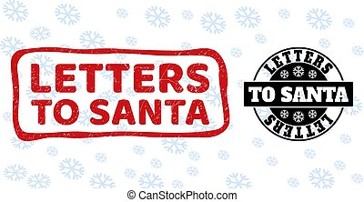 Letters to Santa Grunge and Clean Stamp Seals for Christmas