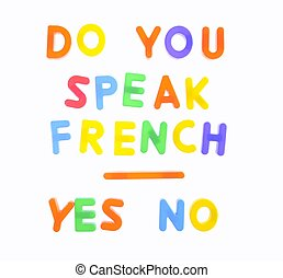 Do you speak french. - Letters with phrase Do you speak ...