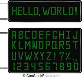 lettertype, digitale