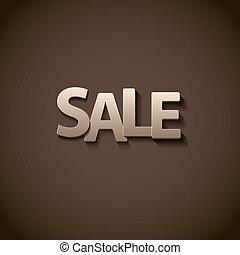 lettertype, eps10, verkoop, retro, opruiming, type