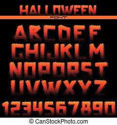 lettertype, halftone