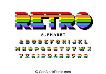 lettertype, retro