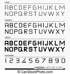 lettertype, vector, moderne