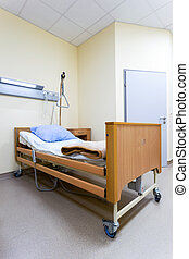 letto, in, moderno, ospedale