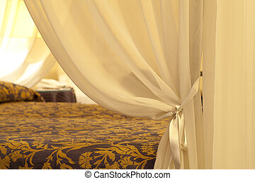 letto, tenda