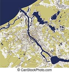 lettonia, mappa urbana, riga