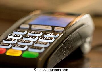 lettore carta credito, macchina