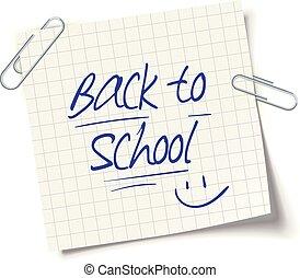 lettrage, école, dos, cahier, doodles, page
