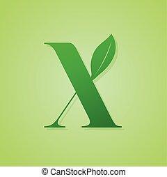 lettrage, écologie, nature, vert, vector., logo