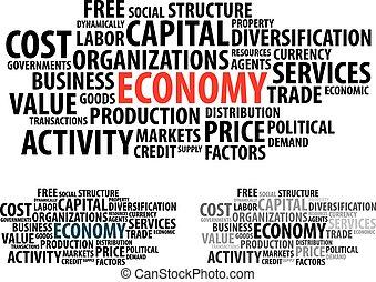 lettrage, économie, illustra, concepts