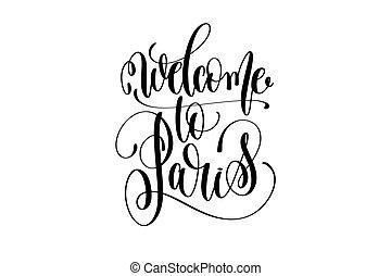 lettrage, accueil, inscription, paris, moderne, typographie, main