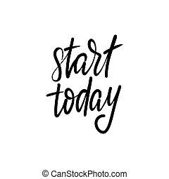 lettrage, aujourd'hui, début