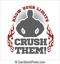 lettrage, flayer, affiche, fitness, étiquette, t-shirt,...