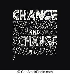 lettrage, motivation, affiche