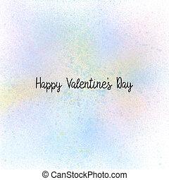 lettrage,  pastel, valentin,  s, fond, jour, heureux