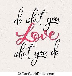 lettrage, quel, vecteur, amour, vous