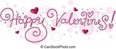 lettrage, valentin
