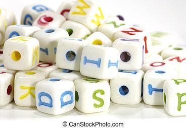 lettre, blocs