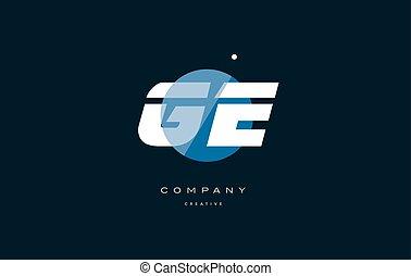 lettre, compagnie, g, e, grand, logo, ge, blanc, bleu, ...