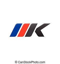 lettre, conception, gabarit, mkp, logo, courses