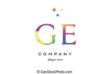 lettre, couleurs, g, icône, arc-en-ciel, e, logo, ge, ...