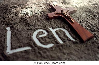 lettre, croix, écrit, religion, cendre, chrétien, mot, ...