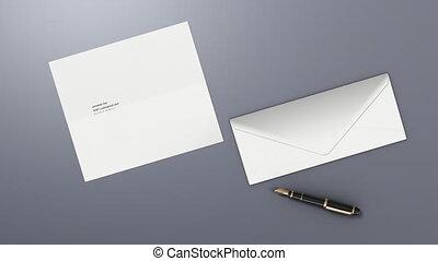 lettre, envoyer