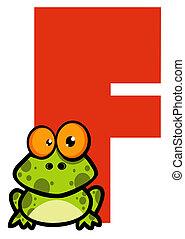 lettre, grenouille, f
