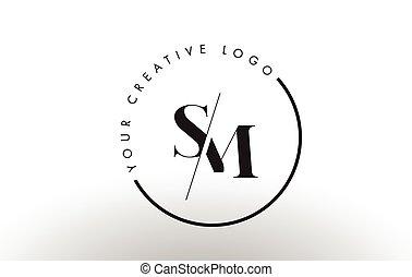 lettre, intersected, cut., créatif, empattement, conception,...