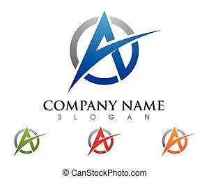 lettre, logo, business, gabarit, vec