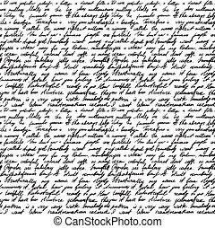 lettre, manuscrit