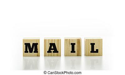 lettre, tuiles, orthographe, les, mot, courrier