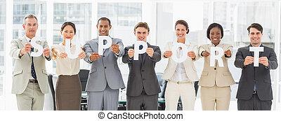 lettres, équipe, divers, soutien, business, tenue, ...