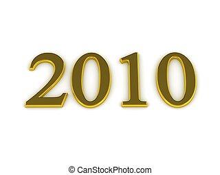 lettres, 2010, or, année