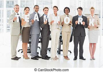 lettres, collaboration, équipe, divers, business, tenue, ...