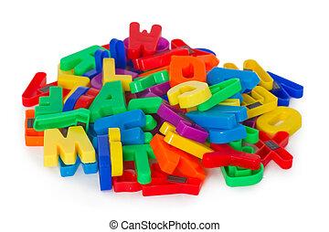 lettres, coloré