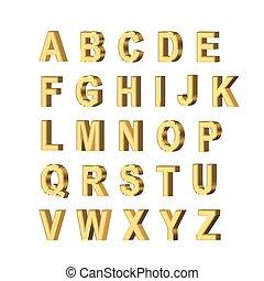 lettres, métallique
