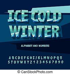 lettres, nombres, glace