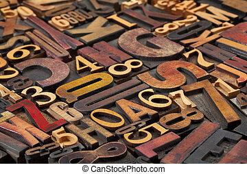lettres, nombres