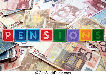 lettres, pensions, bloc, euros