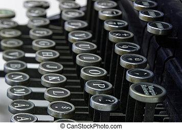lettres, vieux, machine écrire
