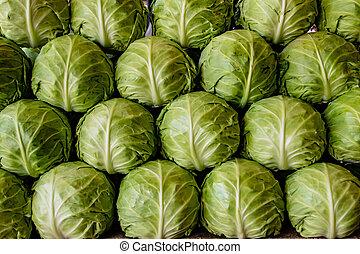 Lettuce for sale at market