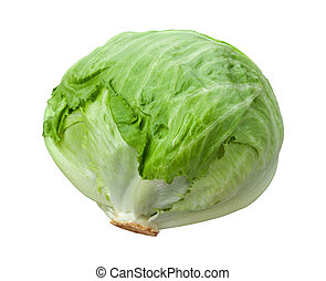 Lettuce Head isolated on a white with a clipping path