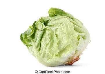 lettuce head on white