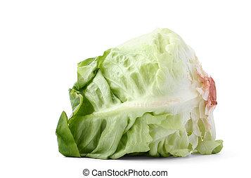 lettuce head on whit