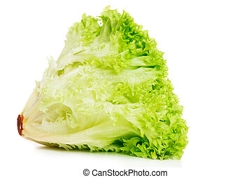 Lettuce isolated on a white background close up