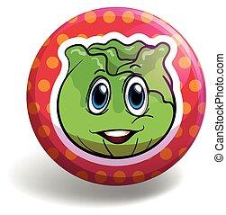 Lettuce on round badge