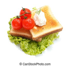 Lettuce with toast